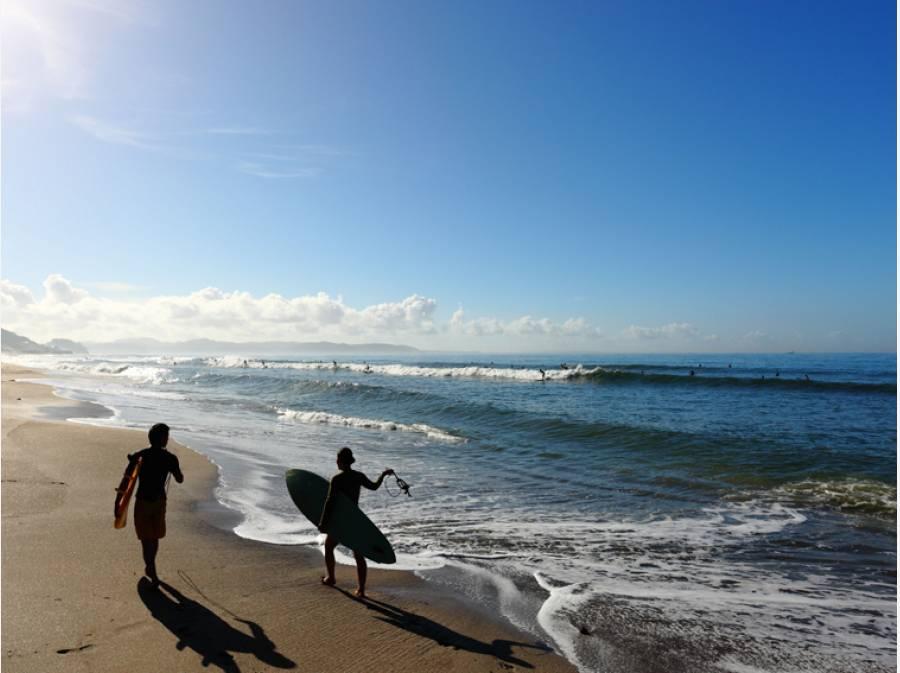 七里ガ浜ビーチ サーフィン三昧な暮らし