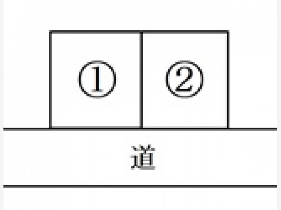 区画図で②区画が今回ご紹介物件です。