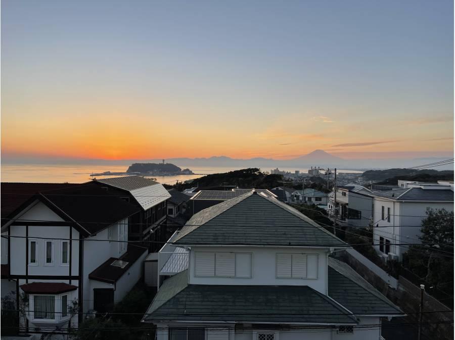 日の入り後の景色。