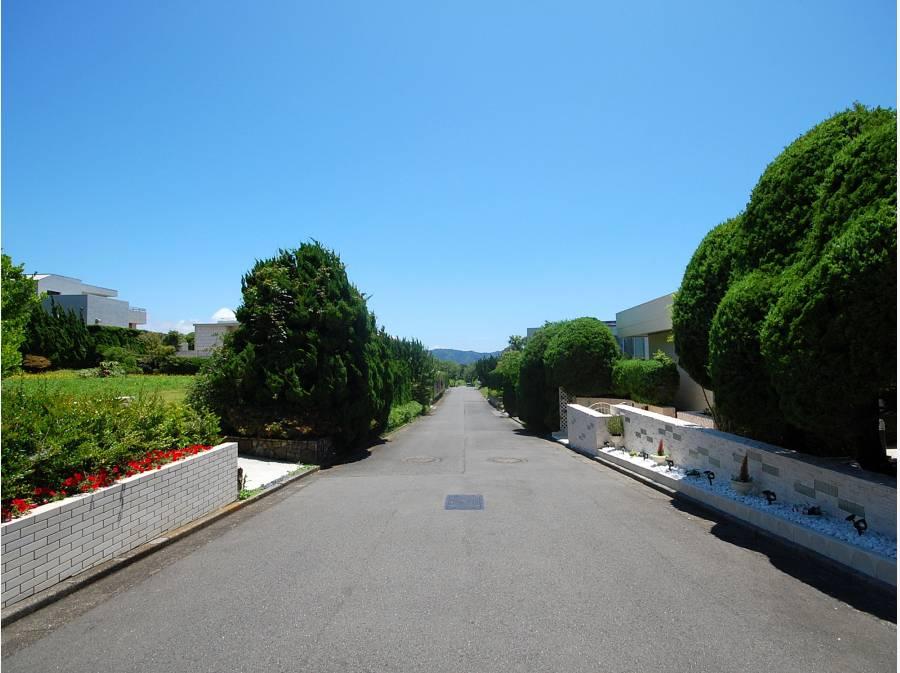 前面道路は電柱地中化され美しい街並み
